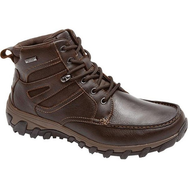 0fc29dba7cfc Rockport Men  x27 s Cold Springs Plus Moc Toe High Boot Chocolate Leather