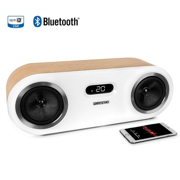 Fluance Fi50W Two-Way High Performance Wireless Bluetooth Premium Wood Speaker System with aptX Enhanced Audio
