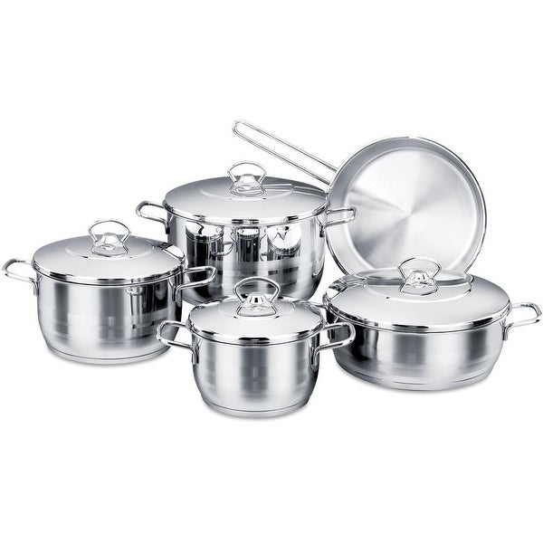 Korkmaz Astra High-End Stainless Steel Cookware Set. Opens flyout.