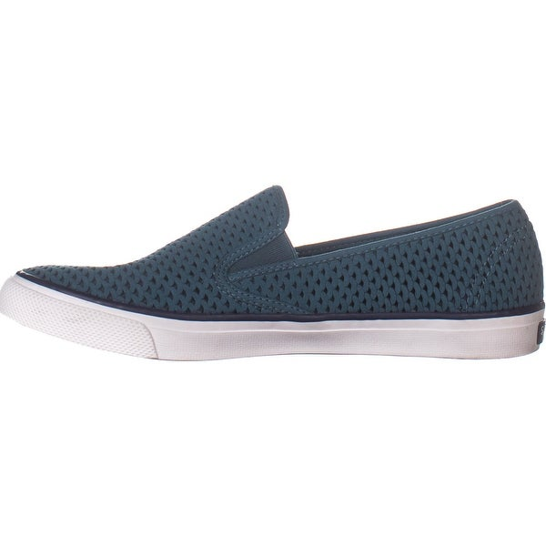 Women/'s Sperry Seaside Scale Perf Slip On Sneaker Dark Teal