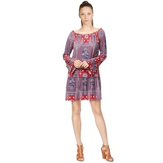 BCBGeneration Bell Sleeve Printed Peasant Dress - s