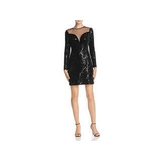 MICHAEL Michael Kors Womens Cocktail Dress Velvet Sequined