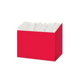 """Pack Of 6, Small Solid Red Basket Boxes 6.75 X 4 X 5"""""""