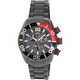Swiss Precimax Men's Deep Blue Pro II SP12164 Black Stainless-Steel Diving Watch