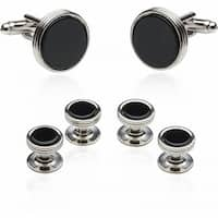Onyx Cufflinks and Studs For Men