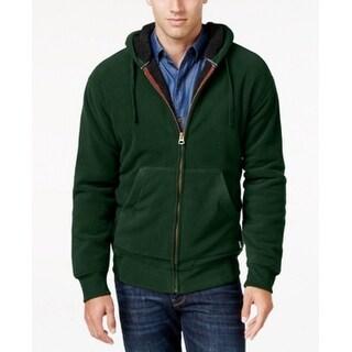 Weatherproof NEW Pine Green Mens Size Small S Hooded Fleece Jacket