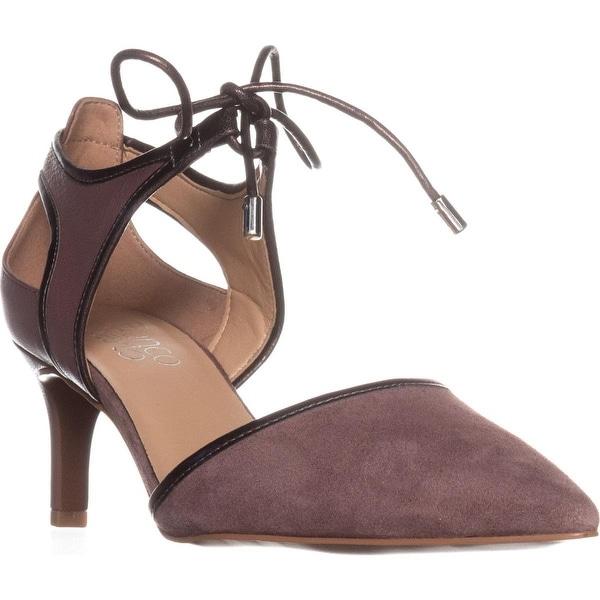 Franco Sarto Darlis Lace Up Dress Pumps, Dark Mauve Leather