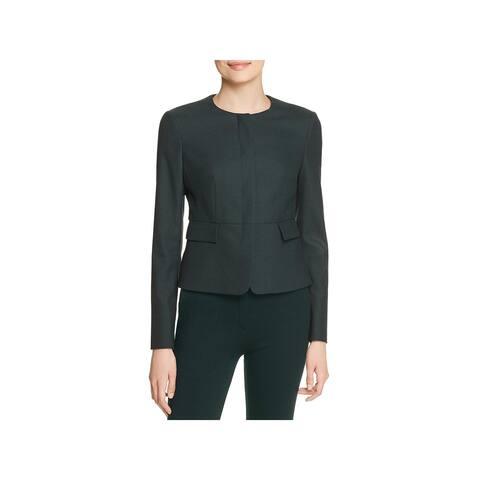 Hugo Boss Womens Jokile Blazer Cropped Button-Down