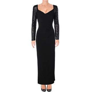 Ralph Lauren Womens Formal Dress Sequined Jersey