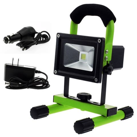 Techno Earth Portable Ultra Bright Cordless Rechargeable Led Flood Spot Work Light Lamp 10W Water Resistant