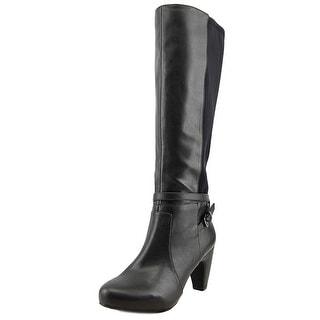 Easy Spirit Patrina Wide Calf Women Round Toe Leather Knee High Boot