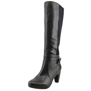 Easy Spirit Patrina Wide Caf Women W Round Toe Leather Knee High Boot