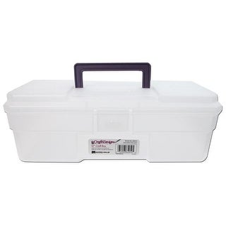 "Akro-Mils Craft Supply Box 12"" Clear"