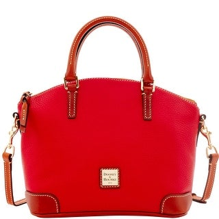 Dooney & Bourke Pebble Grain Charli Satchel (Introduced by Dooney & Bourke at $228 in Jul 2016) - Red