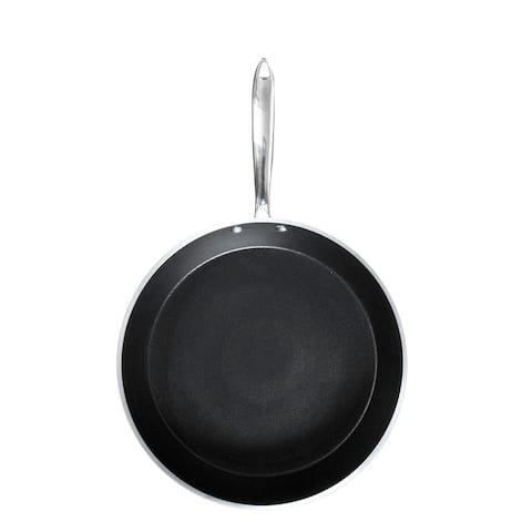 """Orgreenic 12"""" White Round Hammered Pan"""