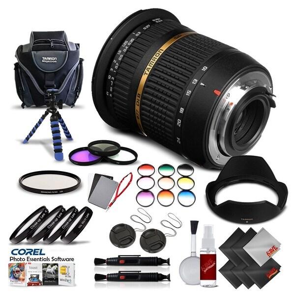Tamron SP AF 10-24mm f / 3.5-4.5 DI II Lens For Pentax International Version (No Warranty) Pro Kit - black