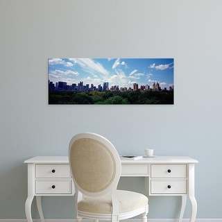 Easy Art Prints Panoramic Image 'Skyscrapers In A City, Manhattan, NYC, New York City, New York State, USA' Canvas Art