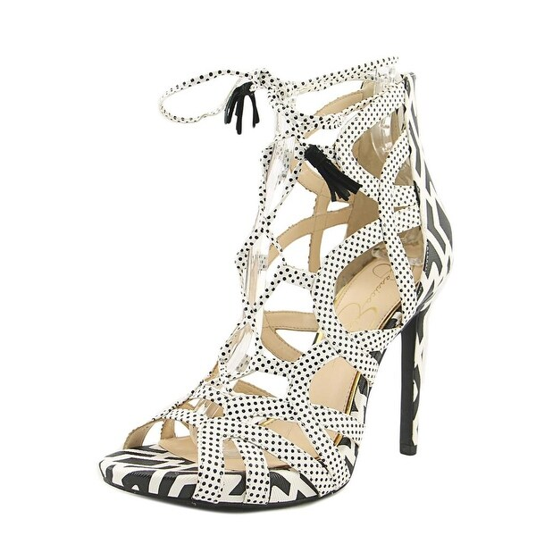 Jessica Simpson Racine Women Open Toe Synthetic White Sandals