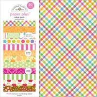 "Bright - Doodlebug Paper Plus Value Pack 12""X12"" 8/Pkg"