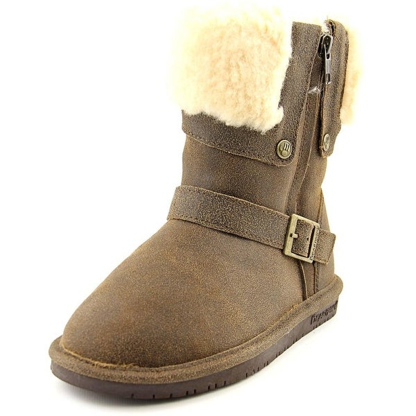 Bearpaw Madison Women Round Toe Suede Brown Winter Boot