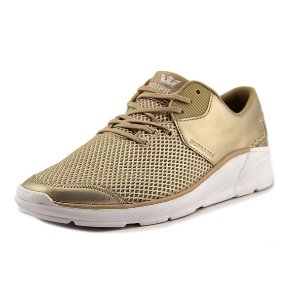 Supra Noiz Women Round Toe Synthetic Gold Skate Shoe