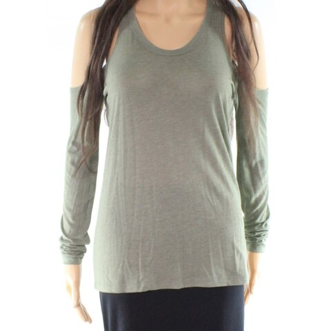 Alternative Olive Womens Small Cold Shoulder Knit Top