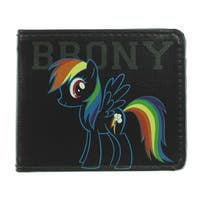 Brony Rainbow Dash Outline + Cutie Mark Bi Fold Wallet - One Size Fits most
