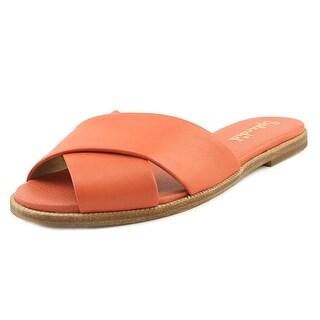Splendid Baron Women Open Toe Leather Pink Slides Sandal