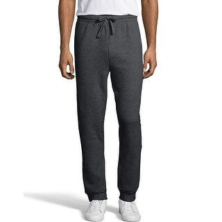 Hanes Men's EcoSmart Fleece Jogger Sweatpant with Pockets - Color - Charcoal Heather - Size - M