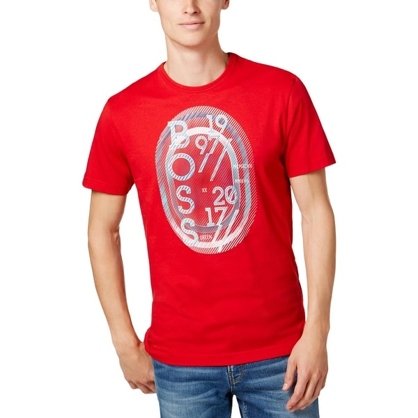 fed6919d Shop BOSS Hugo Boss Mens Graphic T-Shirt Printed Short Sleeves - S - Free  Shipping On Orders Over $45 - Overstock - 25730743