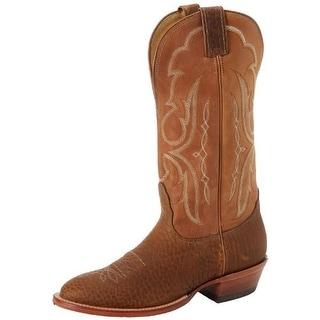 Nocona Boots Mens Leather Stitch Details Cowboy, Western Boots - 9.5 medium (d)
