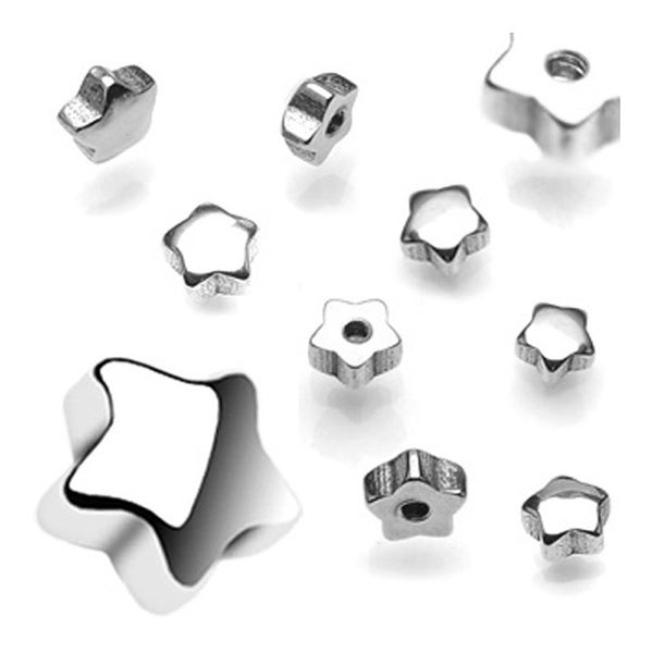 10 Piece Pack of Threaded Steel Star - 14GA (6mm Ball)
