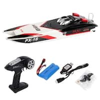 Costway PX-16 1:16 32'' 2.4G RC Speed Boat Storm Engine Radio Remote Control Electric Toy - Black