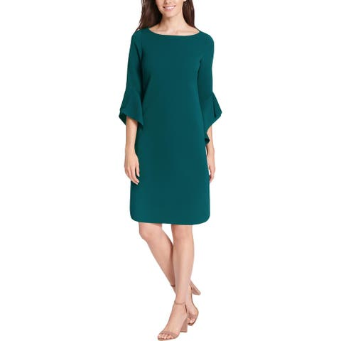 Vince Camuto Womens Shift Dress Mini Cocktail - Green