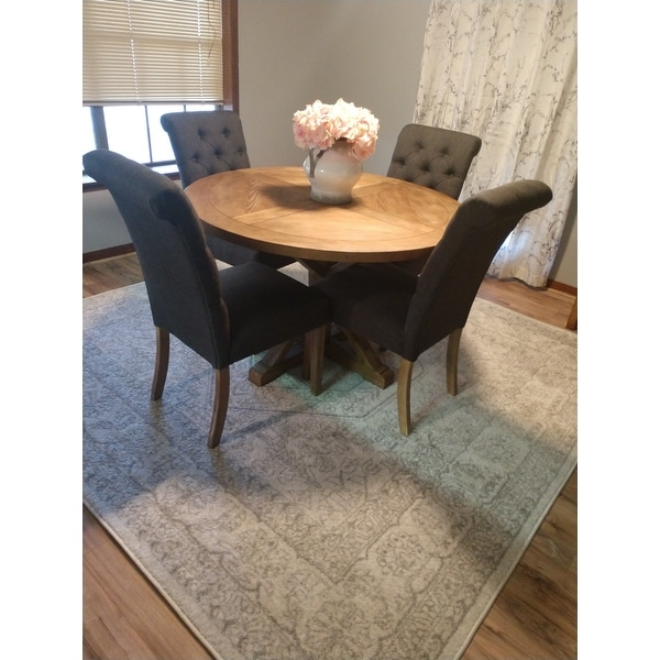 Benchwright Rustic X Base 48 Inch Round Dining Table Set By Inspire Q Free Shipping Today 14357274