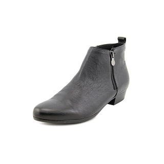 Munro American Lexi Women SS Round Toe Leather Black Ankle Boot
