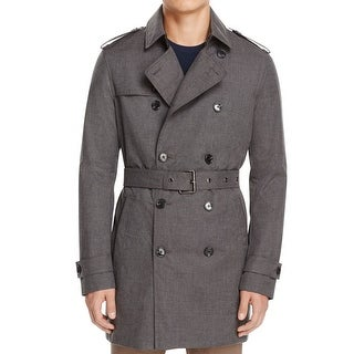 Michael Kors NEW Melange Gray Mens Size 2XL Belted Peacoat Trench Coat