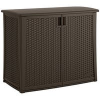 Suncast Wicker Outdoor Cabinet