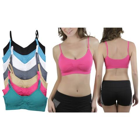 6-Pack Of Women's Seamless Padded Supportive Bralettes