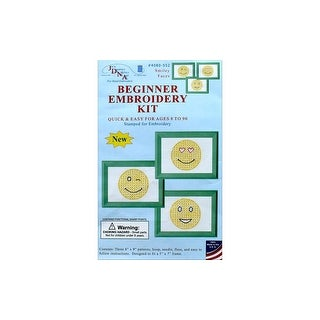 Jack Dempsey Beginner Embroidery Kit Smiling Faces