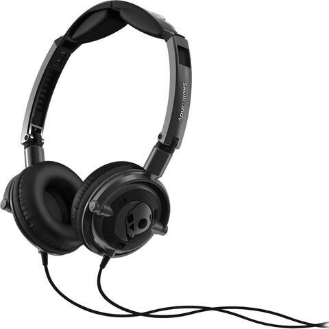 Skullcandy Lowrider Headphones with Microphone - Black - 3.9 x 1.2 x 6.3