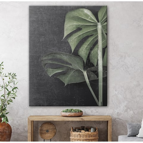 Broad Leaf Study Gallery Wrapped Canvas by Norman Wyatt Home