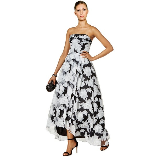 958d11ce94d Shop Betsy   Adam Printed Organza High Low Evening Gown Dress - 6 - Free  Shipping Today - Overstock - 19986378