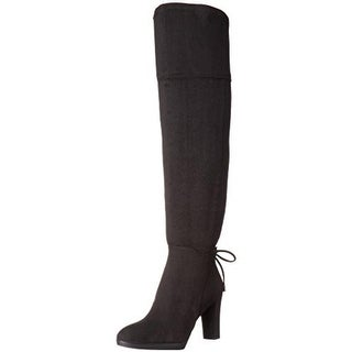 Franco Sarto Womens Ivanea Over-The-Knee Boots Faux Suede Back Tie