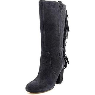 Nine West Women's Jayden Suede Fringe Western Boots