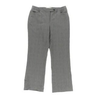 Calvin Klein Womens Petites Dress Pants Plai Slit Pockets