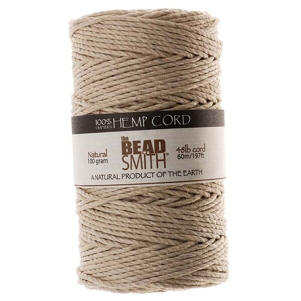 Beadsmith Natural Hemp Twine Bead Cord 2mm / 197 Feet (60 Meters)