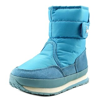Rubber Duck Classic Snow Jogger Youth Round Toe Synthetic Blue Snow Boot