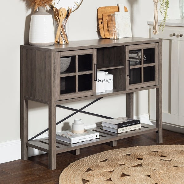 The Gray Barn 48-inch Glass Door Buffet Sideboard. Opens flyout.