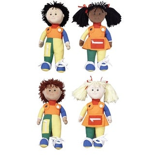 Children's Factory Learn-To-Dress Dolls, Set of 4